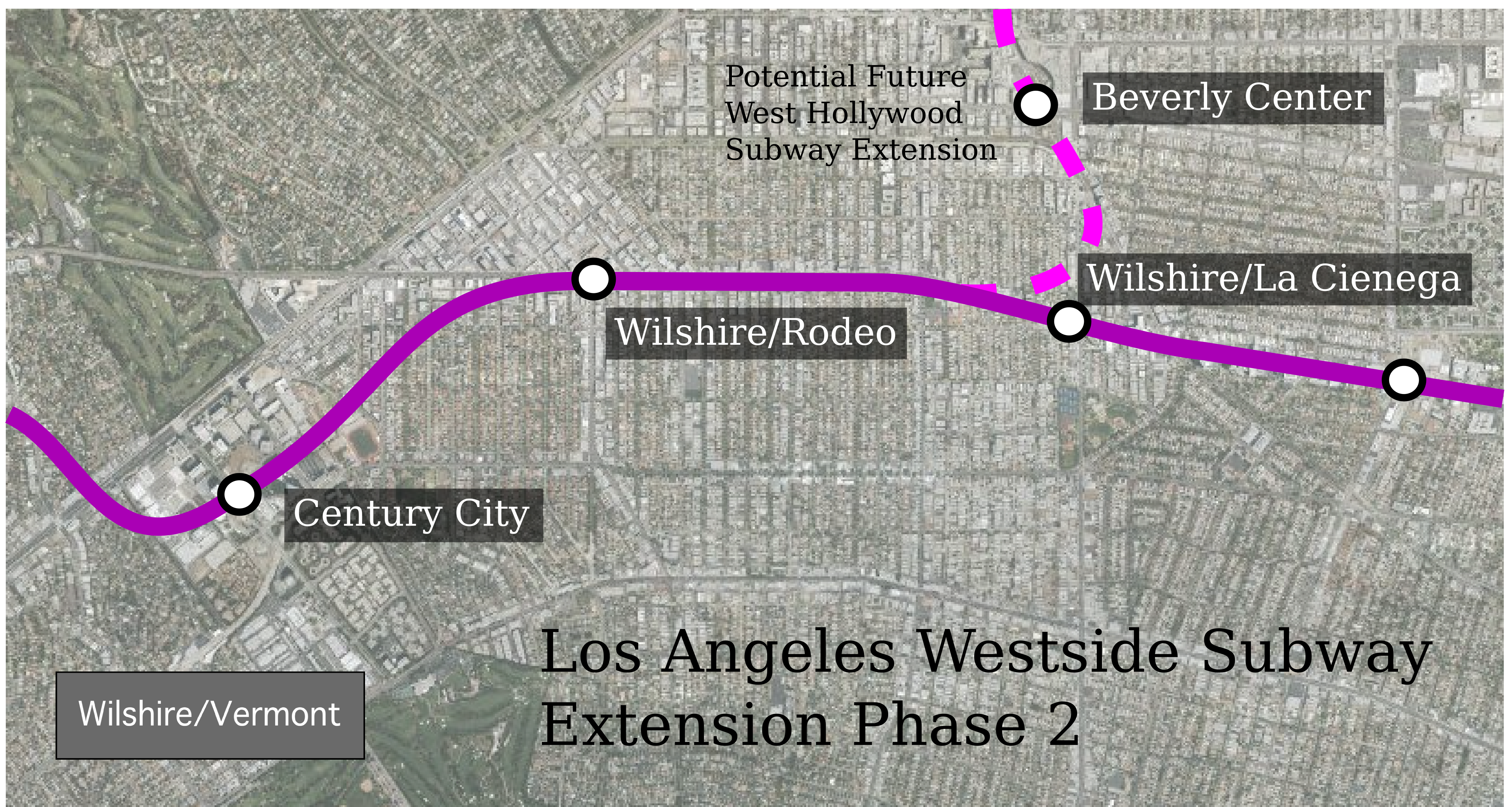 Los Angeles WilshireVermont Page - Los angeles metro expansion map
