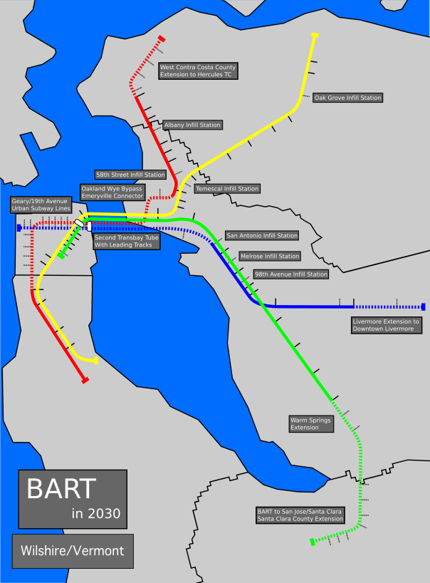 San Jose Subway Map.What Bart Should Look Like In 2030 Wilshire Vermont